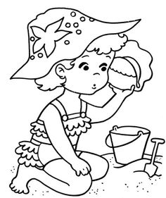 These Free Printable Beach Coloring Book Pages Of Pictures Are Fun For Kids Find This Pin And