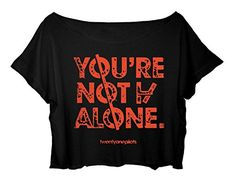Women's Crop Top Twenty One Pilots Shirt 21 Pilots Song Title T-shirt (black) http://www.amazon.com/dp/B015KQ1J76/ref=cm_sw_r_pi_dp_mDx.vb11APE2K