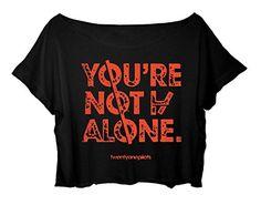 Women's Crop Top Twenty One Pilots Shirt 21 Pilots Song Title T-shirt (black) http://www.amazon.com/dp/B015KQ1J76/ref=cm_sw_r_pi_dp_mDx.vb11APE2K