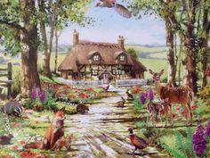 WOODLAND DEER FOX BADGER PLACEMAT & COASTER~WILDLIFE~MACNEIL~FREE PP UK         | eBay