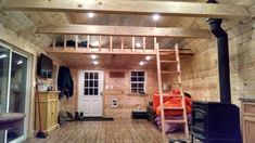 cabin built in to lofted barn by Old Hickory Sheds idaho falls 2