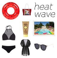 """""""Heat Wave."""" by rae122 on Polyvore featuring Sunnylife, Blue Crown, Icon, Sweaty Betty and Sun Bum"""