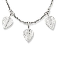 Sterling Silver Shimmering Leaves Necklace from James Avery Jewelry on Catalog Spree