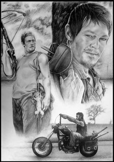 Daryl Dixon in Pencil, the amazing series the walking dead. I am waiting start the zombie apocalypse learning with the Daryl as survives! Daryl Dixon - The Walking Dead Walking Dead Drawings, Walking Dead Comics, Walking Dead Pictures, Fear The Walking Dead, Stuff And Thangs, Fun Stuff, Comic Book Covers, Daryl Dixon, Zombie Apocalypse