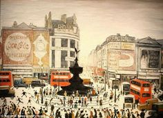 British Paintings: Lowry's Piccadilly Circus equals artist's £5.6m ...