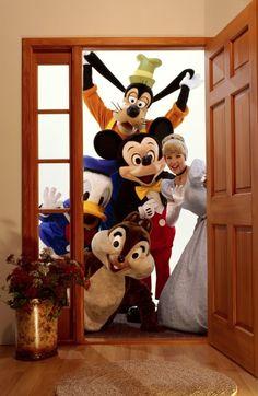 please, come in! - disney friends