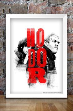 HODOR. Game of Thrones Inspired Print A3 Hodor by thedesignersnursery, $30.00 #GameofThrones, #asongoficeandfire, #hodor