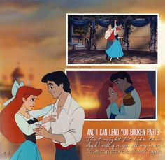 Disney with One Direction's OVER AGAIN lyrics! This is just sooooooooo perfect!!!! Especially because Ariel is my fave Princess