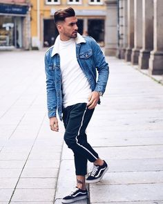 Style by @hugomsrodriguez Yes or no? Follow @mensfashion_guide for dope fashion posts! #mensguides #mensfashion_guide #MensFashionDenim