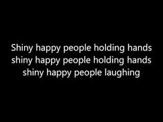 R.E.M: Shiny Happy People (Lyrics) - YouTube