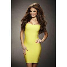 Neonice Sexy Halter Bandage Dress Lemon M635L