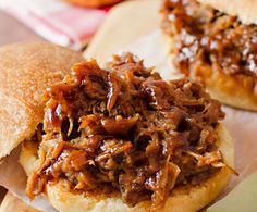 Ingredients    3 to 3.5 lbs. pork butt  1/2 cup apple cider vinegar (red or white wine vinegars work perfectly, as well)  about 2 cups BBQ Sauce (optional)    Pour the vinegar into a large slow cooker. Place the pork in,