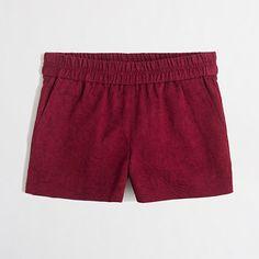 """<ul><li>Cotton.</li><li>Sits just above hip.</li><li>3"""" inseam.</li><li>Elastic waistband.</li><li>Slant pockets.</li><li>Machine wash.</li><li>Import.</li></ul>"""