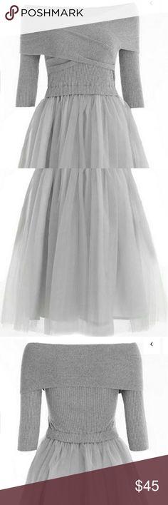 Dress Graceful Princess Prom Dress. Open sholders top and tatu skirt buttom. boutique  Dresses Midi