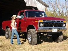 Country girl & her Ford 4 x 4