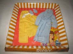 1960's Vintage Mattel Ricky Outfit #1501 Lights Out MIB NRFB MG137 #ClothingShoes