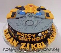 Transformer Bumblebee face Cake: