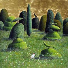 Садовая идиллия от английской художницы Marcelle MIlo-Gray (1954).
