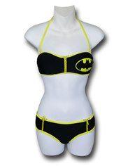 Batgirl Push Up Zip Boy Short Bikini