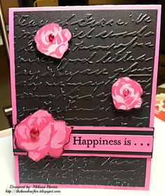 Close to My Heart Card with March Stamp of the Month Floral Happiness