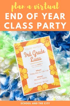 "Create a ""party in a bag"" for a virtual end of year class celebration with your elementary school students. Elementary School Counseling, Elementary Teacher, Elementary Schools, End Of Year Activities, Learning Activities, End Of Year Party, A Little Party, Last Day Of School, School Parties"