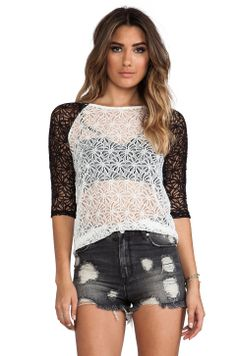 MINKPINK Nobody But Me Top in Black & White from REVOLVEclothing