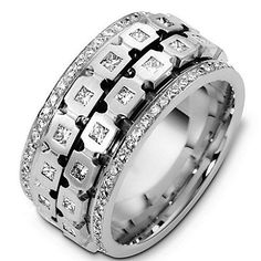 Mens spinning wedding rings