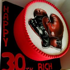 Boxing gloves - Cake by Tracycakescreations