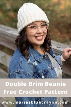 This double brim ribbed crochet beanie is perfect for EVERYONE! Written pattern and video tutorial included.