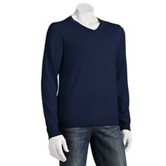 Apt. 9 Merino Solid V-Neck Sweater - Big and Tall
