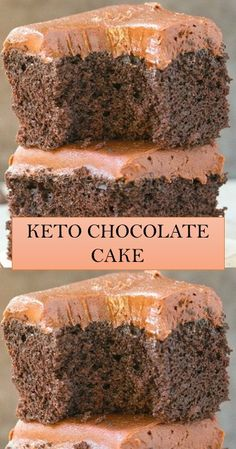 KETO CHOCOLATE CAKe #cake #yummy Sunday Recipes, Fun Easy Recipes, Keto Reciepes, Keto Chocolate Cake, Delicious Cake Recipes, Baking Recipes, Diet Recipes, Nail, Keto Desserts
