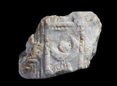 stela; Ancient South Arabian; Yemen; Shabwa. Fragment from the upper left-hand…