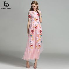 Women Maxi Dress Long Sleeve Party Wear Floor Length Floral Printing Long Dress Oh just take a look at this! www.sukclothes.co... #shop #beauty #Woman's fashion #Products