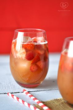 Strawberry rhubarb sangria? Yes, please! via @thymeandlove