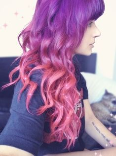 pink purple ombre hair - Google Search