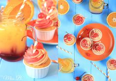 Miss Blueberrymuffin's kitchen: Beschwipst: Tequila Sunrise Cupcakes