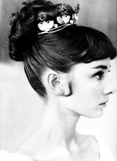 Audrey Hepburn hair test for 'War and Peace', 1955.