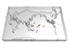 """World Trip"" fish tank. Winner of a 2012 TIFF Award for designer Takuro Yamamoto."