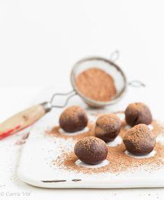 Chocolate Truffles via DeliciouslyOrganic.net #paleo