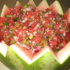 watermelon salsa - fire and ice - serve with lime tortilla chips...fabulous!
