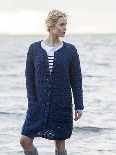 Naisen neuletakki Novita Eco Cotton | Novita knits