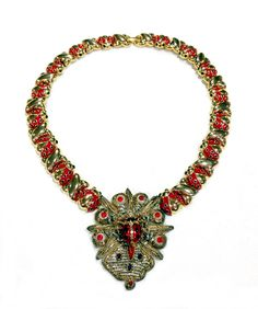 """Antique Enamel and Gilded Ladybugs, Abstract """"X"""" Links, Indian Metallic Badge. Ladybugs, Art Decor, Badge, Beaded Necklace, Jewelry Design, Abstract, Antiques, Metal, Beaded Collar"""
