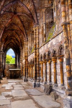 Cathedral Ruins, Holyrood House, Scotland, www.leahmariebrown.net