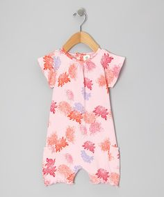 Take a look at this Pink Peony Organic Bubble Romper - Infant by Nosilla Organics on #zulily today!