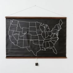 The United States Chalkboard Map