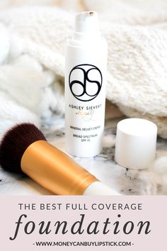 If you're looking for a full coverage foundation, Ashley Sievert Beauty Mineral Velvet Cream is perfect. It covers everything!