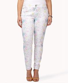 Got it! (Forever 21+ Watercolor Splattered Skinny Jeans)