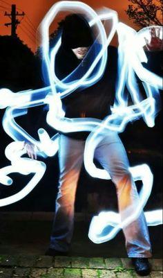 Light art long exposure photography