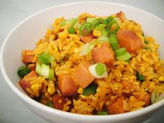 "I know it sounds ""ghetto"" but it is truly the best fried rice I've ever had.  I actually made a somewhat healthier version using the turkey spam, bumped up the protein by adding 2 add'l egg whites and some sauteed cabbage for bulk and it was equally as wonderful.  Yum!"