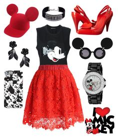 """""""Ready for Disney"""" by ai0807 on Polyvore featuring ファッション, Vivienne Westwood, DANNIJO, Valentino, Linda Farrow, Markus Lupfer, Chicwish, Disney, women's clothing と women"""